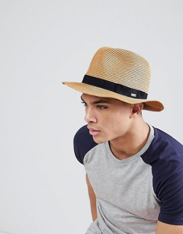 Barts Aveloz Summer Trilby Hat - Brown
