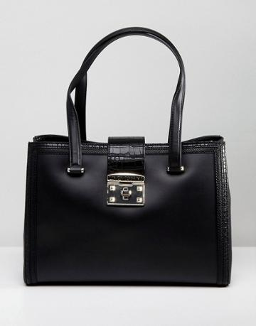 Love Moschino Shoulder Bag With Clasp - Black