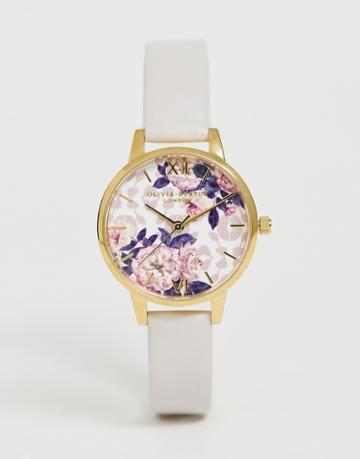 Olivia Burton Ob16lp02 Wildflower Faux Leather Watch - Pink