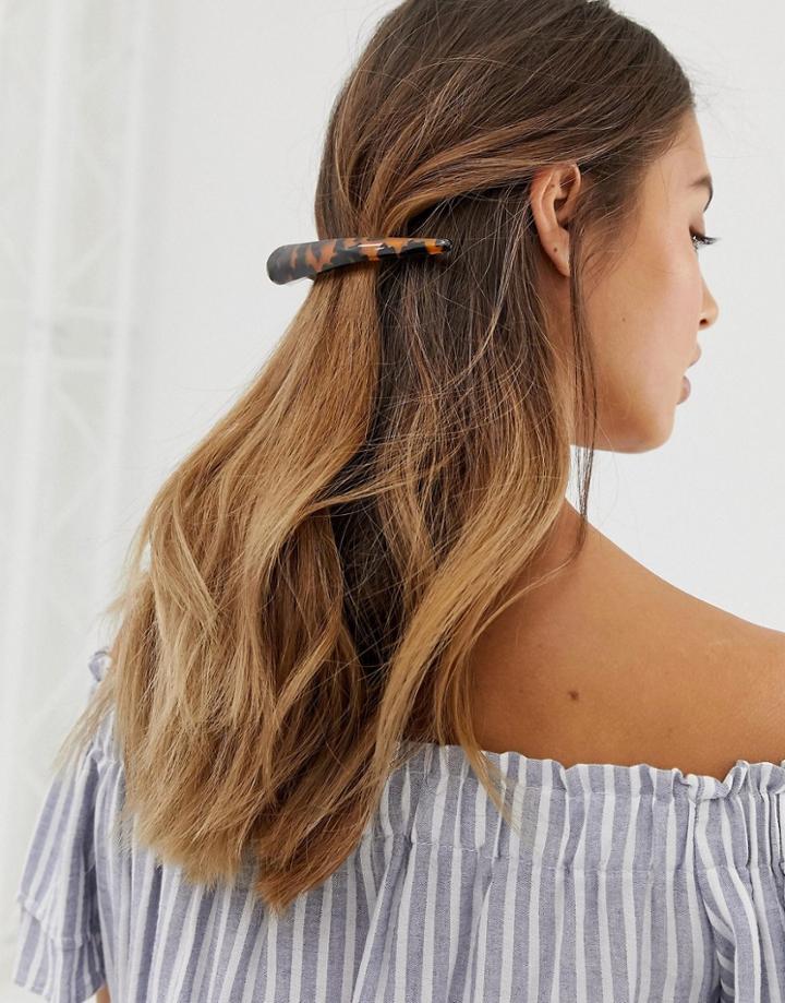 Designb London Resin Claw Hair Clip-brown