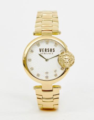 Versus Versace Buffle Bay Sp8711 0018 Bracelet Watch In Gold - Gold