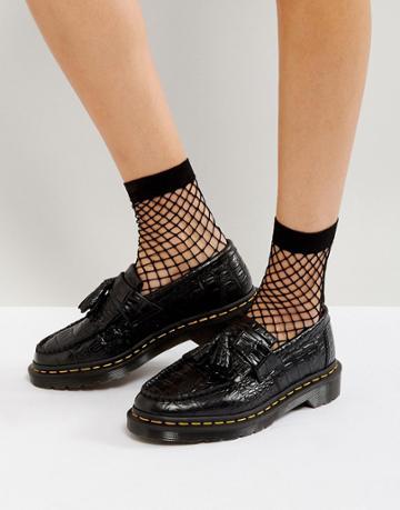 Dr Martens Adrian Croc Tassle Loafers - Black