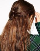 Asos Circle Hair Brooch - Gold