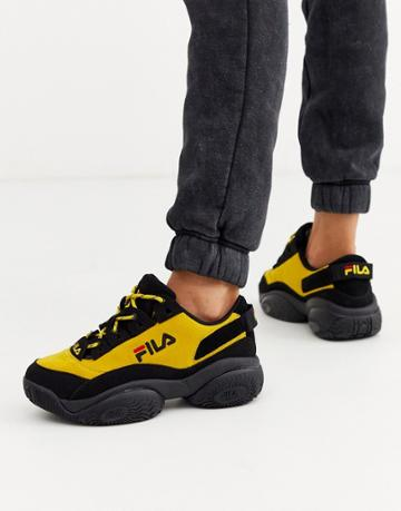Fila Provenance Sneakers In Black And Yellow