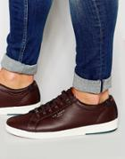 Ted Baker Theeyo Leather Sneakers - Red