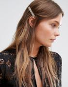 Designb London Rectange Hair Clip - Gold
