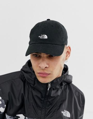 The North Face Washed Norm Hat In Black - Black