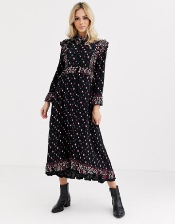 Free People Calico Skies Midi Dress
