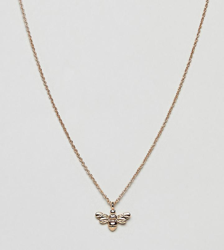 Accessorize Gold Bee Necklace - Gold