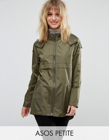 Asos Petite Pac A Trench - Green