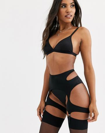 Savage X Fenty Glisenette Garter Suspender Belt In Black