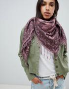 Abercrombie & Fitch Paisley Blanket Scarf - Gray