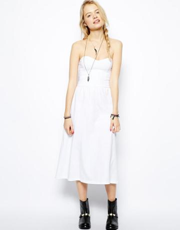 Asos Midi Bandeau Dress