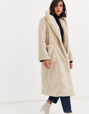 Y.a.s Oversized Faux Fur Maxi Coat