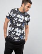 Weekday Alan Fantasymap T-shirt - Black
