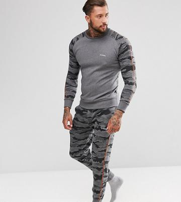 Diesel Peter Joggers With Cuffed Ankle In Camo - Gray