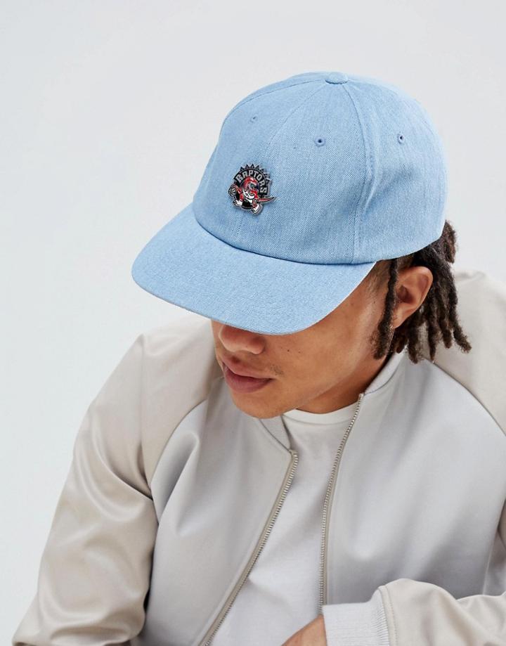 Mitchell & Ness Pin Baseball Cap In Denim - Blue