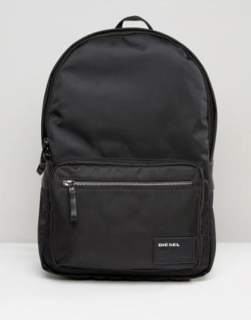 Diesel Drum Roll Backpack In Black - Black