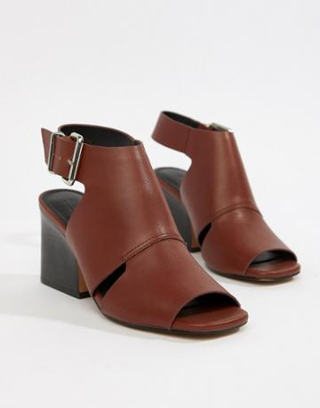 Asos Design Trissy Casual Heeled Sandals - Brown