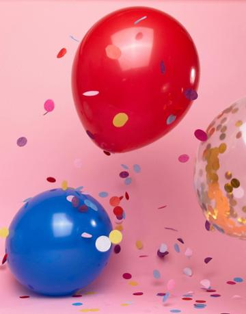 Ginger Ray Royal Wedding Confetti Balloons 8 Pack - Multi