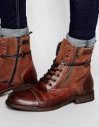 Aldo Lareracia Laceup Boots - Brown