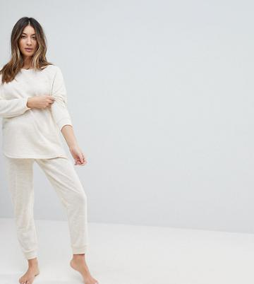 Asos Maternity Lounge Longline Sweat And Jogger Set - Beige