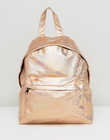 Asos Hologram Backpack - Gold