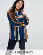 Lovedrobe Plus Shirt In Multi Stripe - Multi