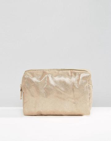 Pimkie Metallic Makeup Bag - Copper