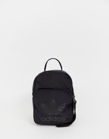 Adidas Originals Mini Backpack In All Black - Black