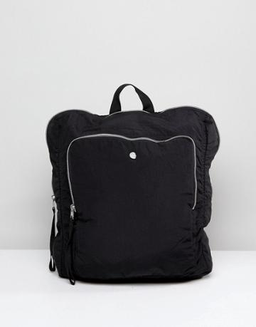 Cheap Monday Zip Backpack Black - Black