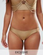 Wolf & Whistle Cheeky Bikini Bottom - Gold