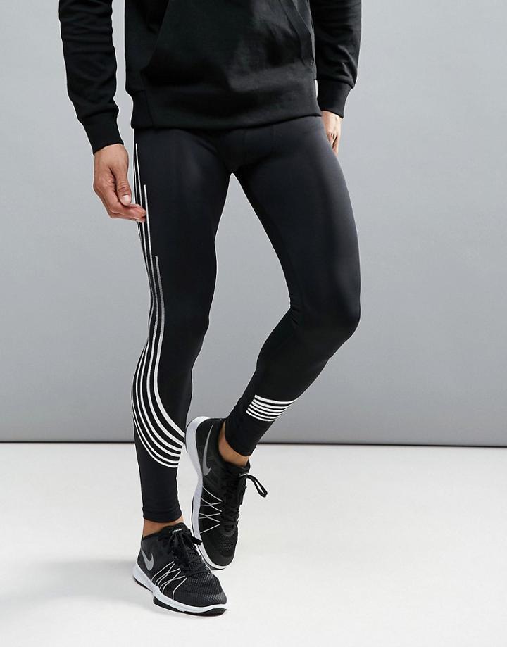 Bershka Sport Leggings In Black - Black
