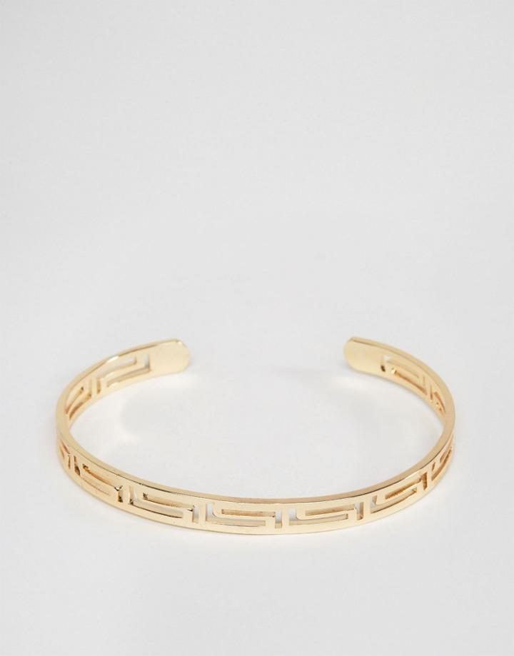 Asos Cut Out Bangle In Gold - Gold