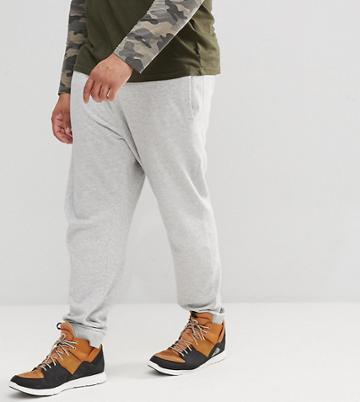 Only & Sons Plus Joggers With Cuffed Hem - Gray