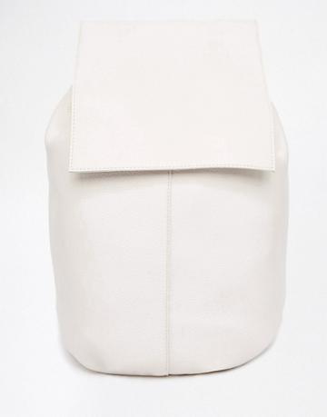 Asos Design Soft Unlined Backpack - Cream