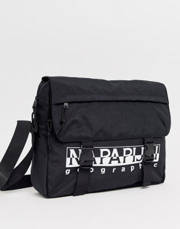 Napapijri Happy Messenger Bag In Black