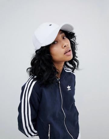 Adidas Originals Cap In Towelling With Metal Trefoil - Blue
