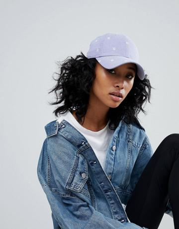 New Era 9forty Cap With Mini Ny Embroidery In Denim Blue - Blue