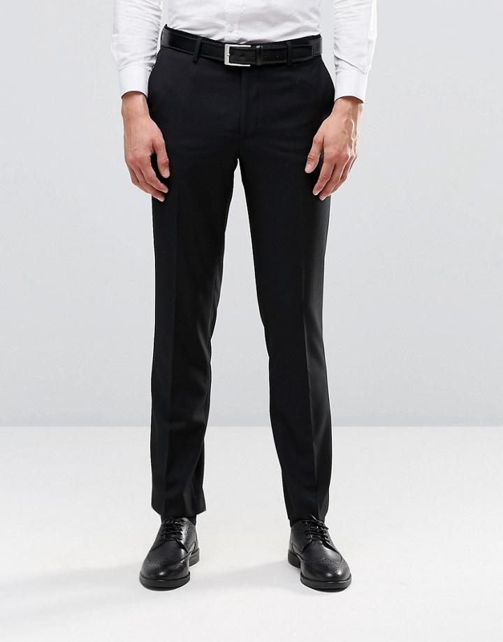 Farah Skinny Suit Pants In Black - Black