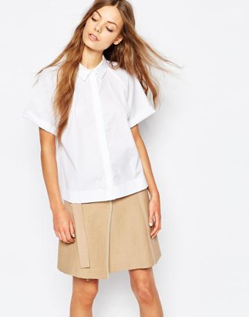 Sportmax Code Shortsleeve Shirt In White - 001 Optical White