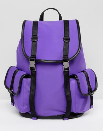 New Look Neoprene Tab Backpack - Purple