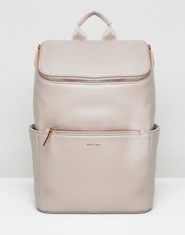 Matt & Nat Brave Rose Gold Zip Backpack - Gray