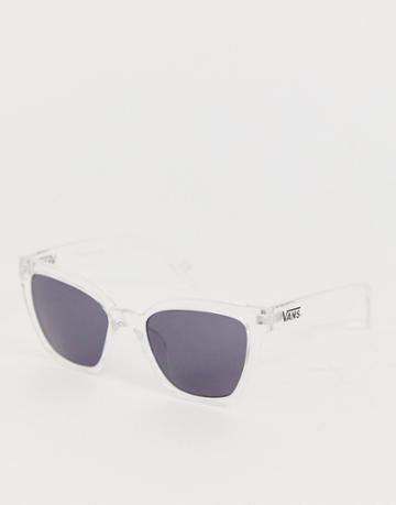 Vans Hip Cat Sunglasses In Black-clear