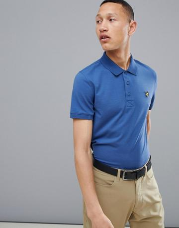 Lyle & Scott Golf Kelso Logo Polo Shirt In Steel Blue - Blue