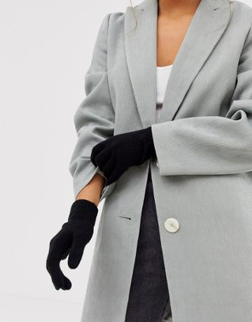 Pieces Touch Screen Gloves In Black - Black
