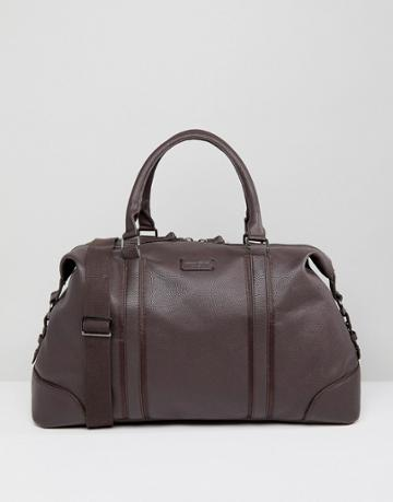 New Look Carryall With Detachable Strap In Dark Brown - Brown