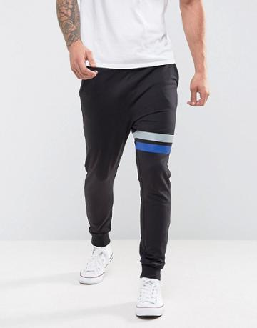 Only & Sons Joggers With Stripe Detail - Black