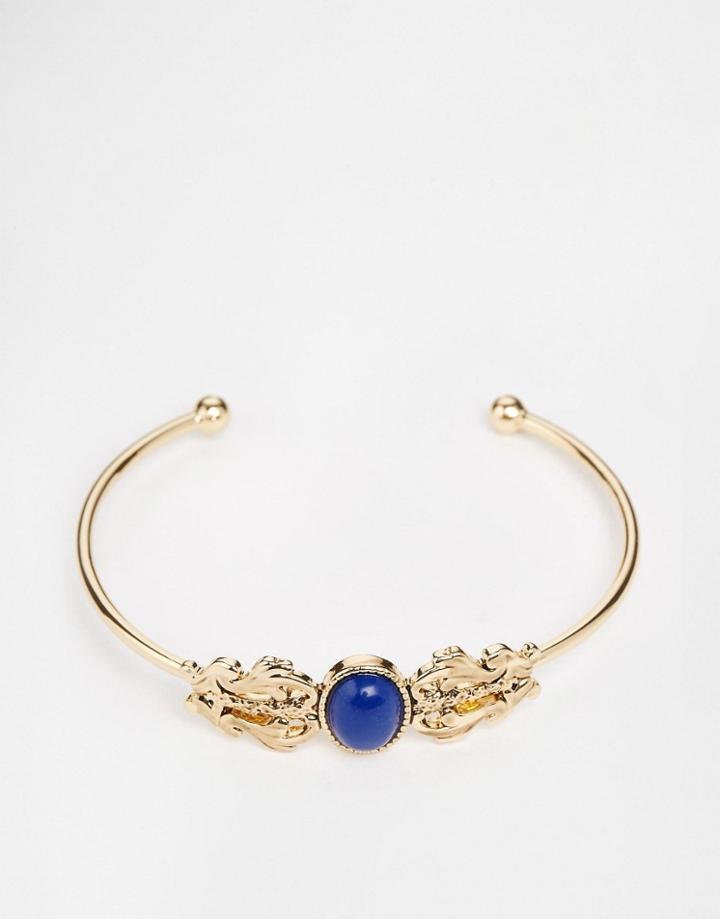 Asos Ornate Jewel Bangle - Gold