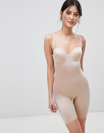 Spanx Suit Your Fancy Underwired Mid Thigh Smoothing Body - Beige